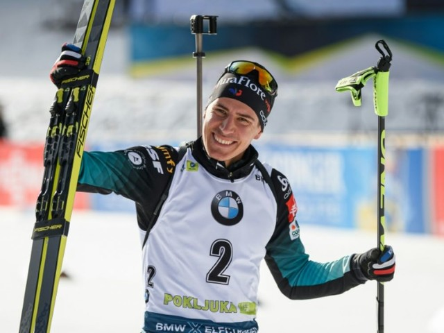 Biathlon: Fillon-Maillet remporte la mass start de Pokljuka