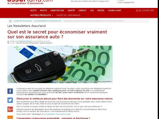 Quel est le secret pour économiser vraiment sur son assurance auto ?
