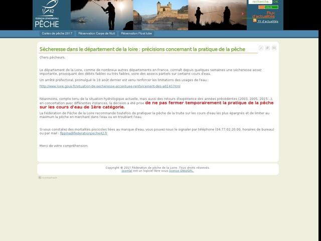 Sécheresse dans le département de la loire : précisions concernant la pratique de la pêche