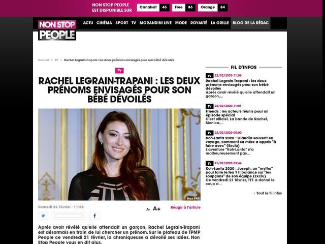 Rachel Legrain-Trapani : les deux prénoms envisagés pour son bébé dévoilés