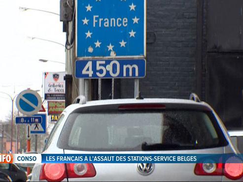 """Les stations-service belges sont prises d'assaut par les Français: """"Ça remplit toutes les caisses, les nôtres et celles du gouvernement"""""""