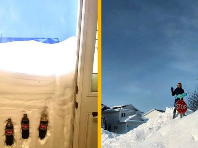 Top 17 des photos du blizzard au Canada, une bonne grosse couche de neige
