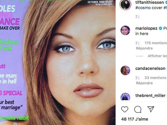 Tiffani Thiessen nostalgique partage un cliché très 1990's
