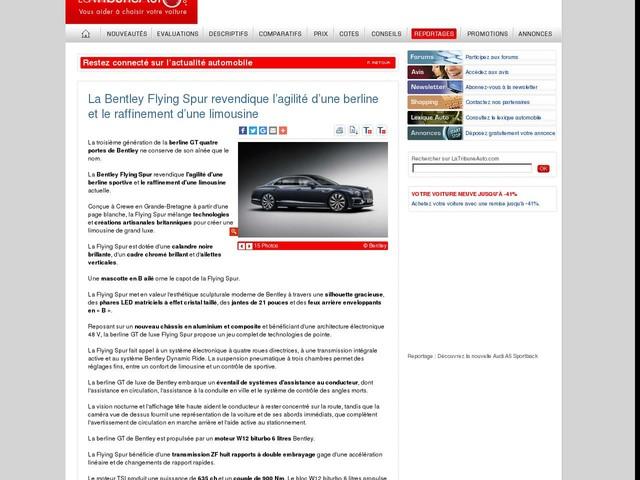 La Bentley Flying Spur revendique l'agilité d'une berline et le raffinement d'une limousine
