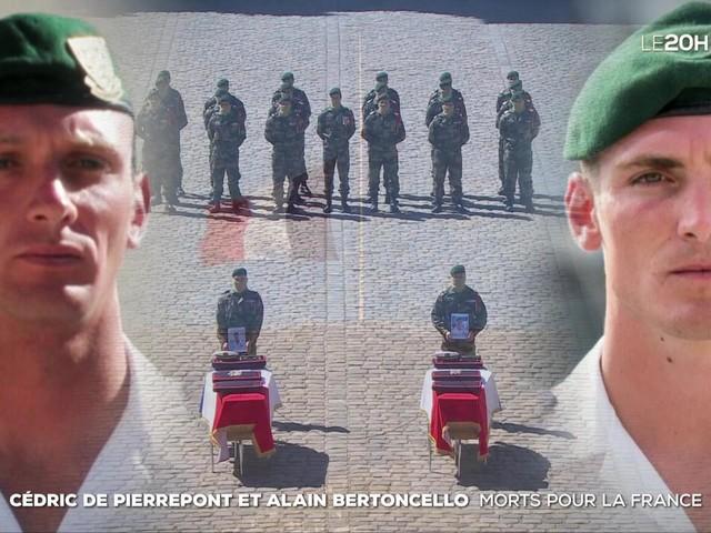 Cédric de Pierrepont et Alain Bertoncello : morts pour la France