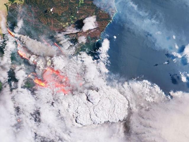 Actualité : Une photo prise depuis l'espace montre l'Australie en flammes et une fumée inquiétante