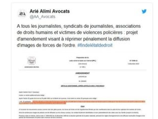 Violences policières : un amendement pour empêcher la diffusion des images
