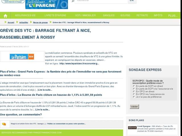 Grève des VTC : barrage filtrant à Nice, rassemblement à Roissy