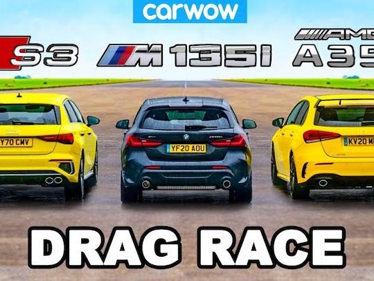 VIDEO - La nouvelle Audi S3 bat la BMW M135i et l'AMG A35