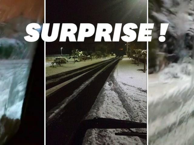 La neige a surpris le quart sud-est en plein mois de novembre