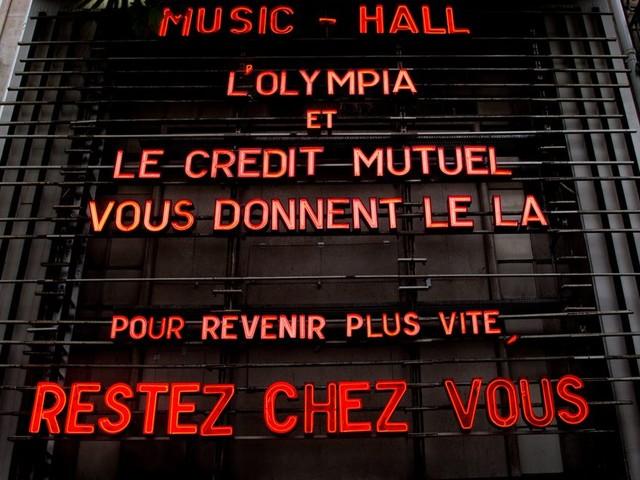 À Paris, l'Olympia rouvre (un peu) ses portes après des semaines de confinement