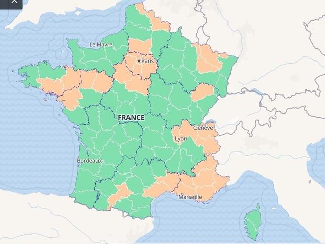 Coronavirus en France : le taux d'incidence se dégrade, 31 départements en orange