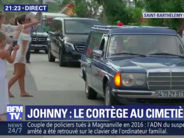 VIDEO. Haie d'honneur à Saint-Barth pour l'arrivée du cortège de Johnny Hallyday au cimetière Lorient