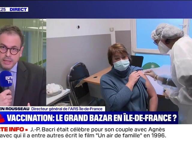"""Aurélien Rousseau (ARS Île-de-France) sur la vaccination: """"Sur 109 centres, il y en a environ 100 pour lesquels il n'y a pas de difficulté majeure"""""""