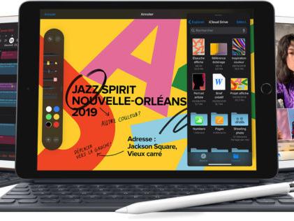 Apple dévoile son nouvel iPad de 10.2 pouces à 389 euros