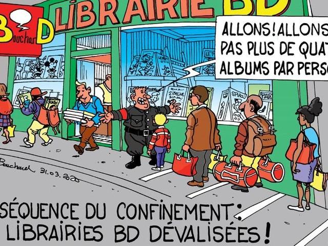 """Confiné aussi, le dessinateur isérois Gilbert Bouchard donne des nouvelles """"depuis son placard"""" !"""