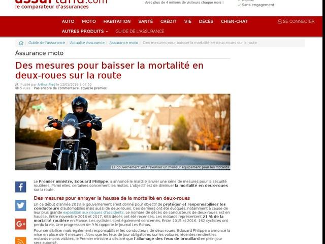 Des mesures pour baisser la mortalité en deux-roues sur la route