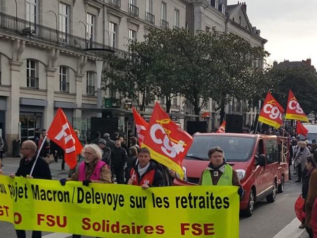 Réforme des retraites : à Nantes, manifestation dans la calme samedi matin, cinqinterpellations préventives