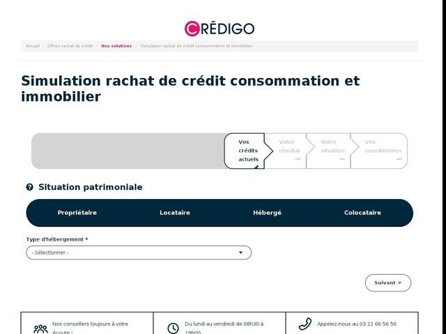 Simulation rachat de crédit | Credigo ®