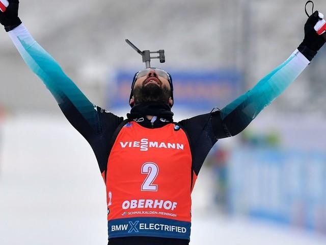 Biathlon : Martin Fourcade remporte la mass-start d'Oberhof et retrouve la tête du général