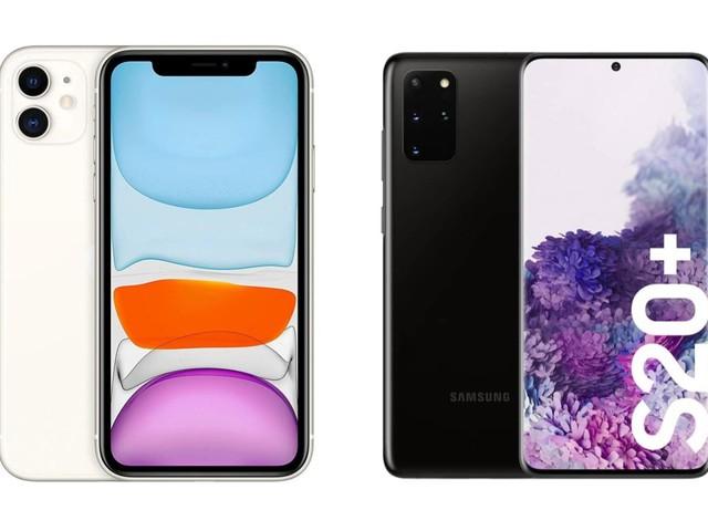 Apple iPhone 11 et Samsung Galaxy S20+ en promotion au même prix : lequel choisir ?