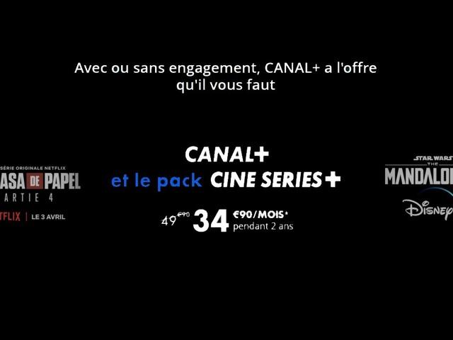Découvrez Canal+ Cinéma avec Netflix , OCS et Disney+ pour 34,90€ en promo et 1 mois pour tester