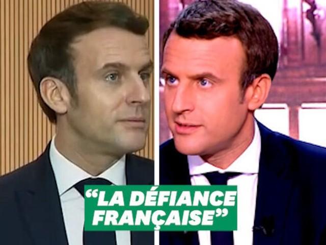 """Macron regrette les """"66 millions de procureurs"""" en France, mais.."""