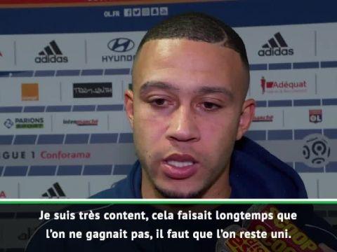 Foot - L1 - OL - Memphis Depay, après Lyon-Metz : « Le brassard ? Parfois, je préfère laisser parler mes pieds »