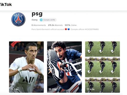 PSG – Combien vaut le club parisien sur TikTok ?
