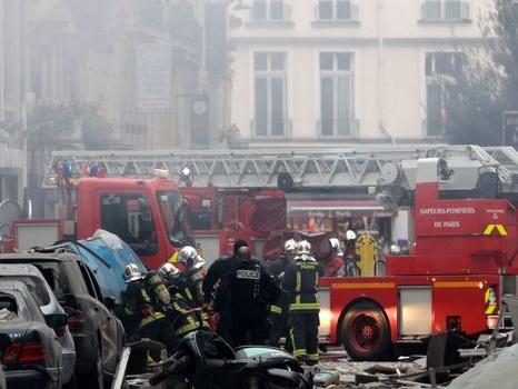 Explosion d'une boulangerie rue de Trévise à Paris