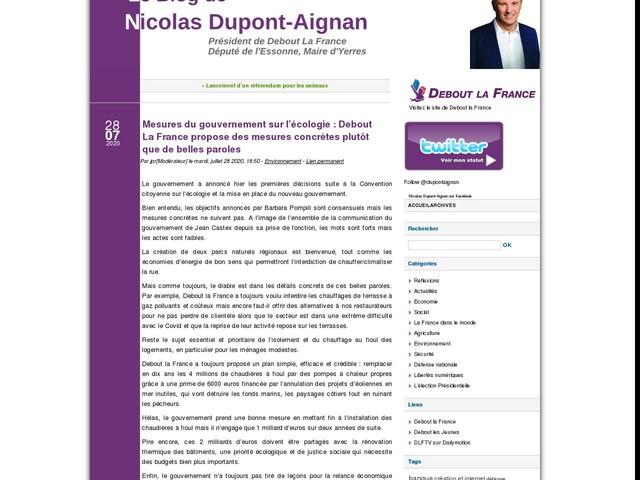 Mesures du gouvernement sur l'écologie : Debout La France propose des mesures concrètes plutôt que de belles paroles