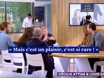 « C à vous » au sommet du « journalisme » mondain : réception avec Cécilia Attias & Louis Sarkozy