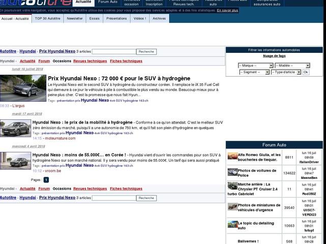 Prix Hyundai Nexo : 72 000 € pour le SUV à hydrogène