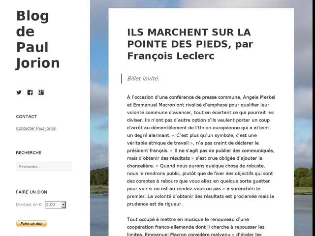 ILS MARCHENT SUR LA POINTE DES PIEDS, par François Leclerc