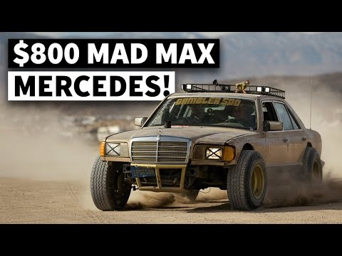 VIDEO - Il transforme cette épave de Mercedes Classe S en voiture de Mad Max !
