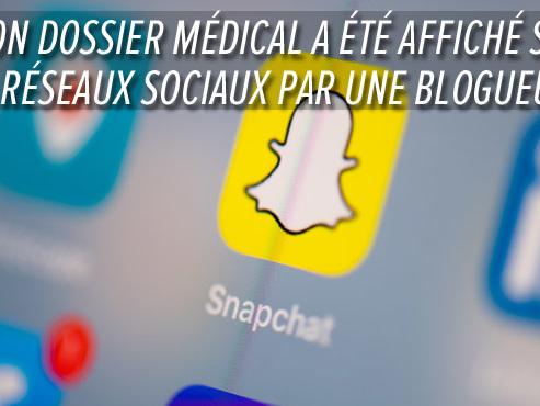 Ikram est victime de la divulgation d'une partie de son dossier médical sur Snapchat: quels sont les risques pour les personnes responsables?