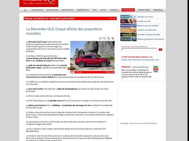 Le Mercedes GLE Coupé affiche des proportions musclées