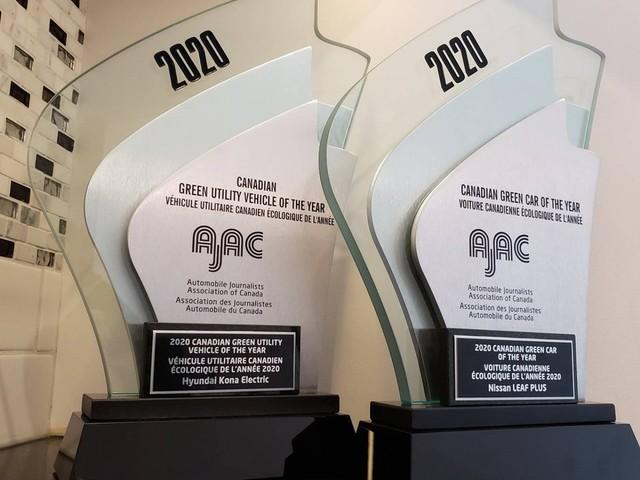 L'AJAC annonce les véhicules verts canadiens de l'année 2020