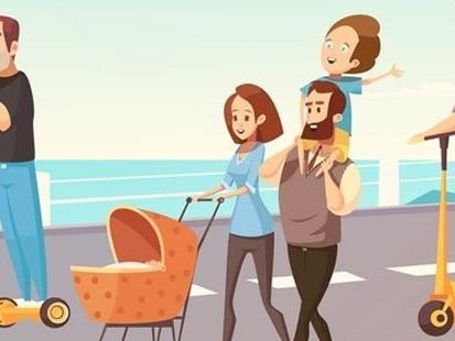 Trottinettes : à Paris, rouler sur les trottoirs vous vaudra une amende