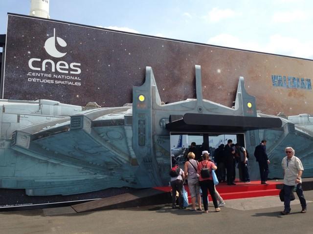 CNES au Salon du Bourget : un espace consacré à Valérian et la cité des mille planètes.