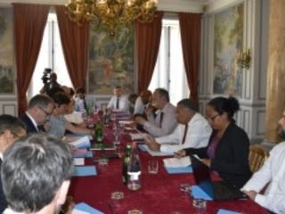 Annick Girardin reçoit les présidents les chambres de métiers des outre-mer