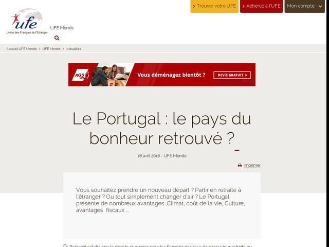Le Portugal : le pays du bonheur retrouvé ?
