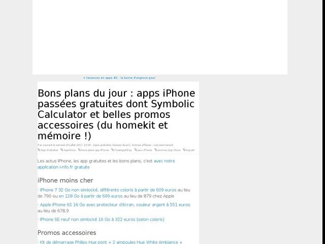 Bons plans du jour : apps iPhone passées gratuites dont Symbolic Calculator et belles promos accessoires (du homekit et mémoire !)
