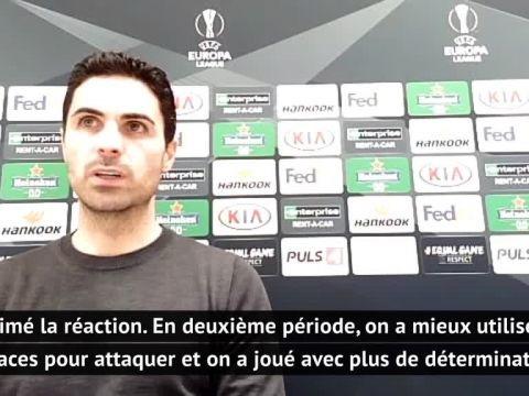 Foot - C3 - Arsenal - Mikel Arteta (Arsenal): «J'ai aimé la réaction en seconde période»