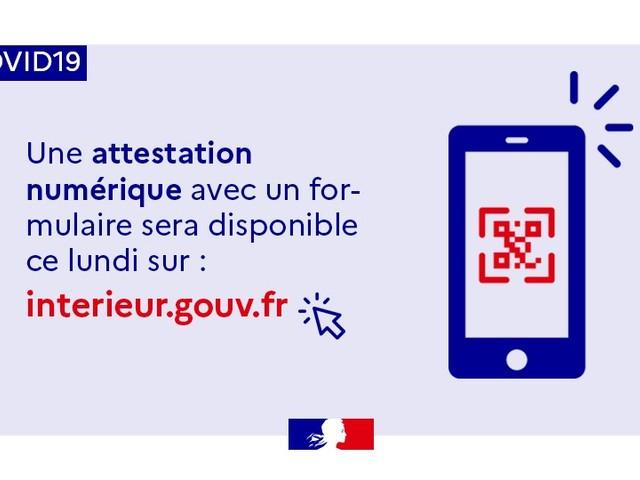 L'attestation de déplacement sur smartphone disponible dès le 6 avril