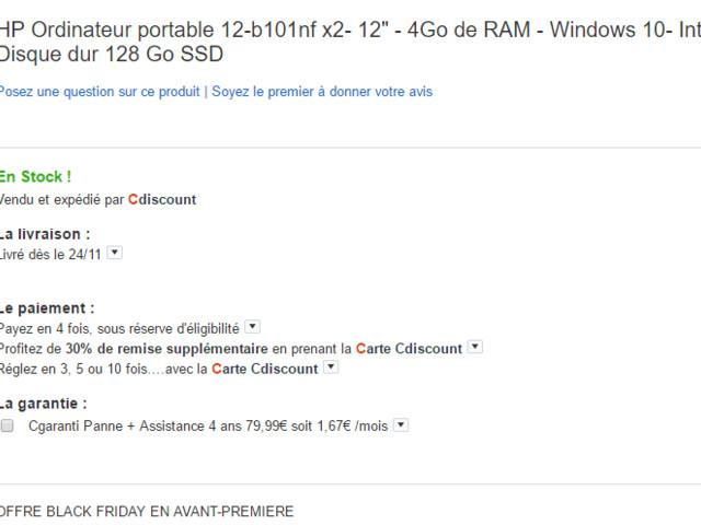 [Bon plan] HP Pavilion x2 à moins de 450€ (au lieu de 480€ ailleurs)