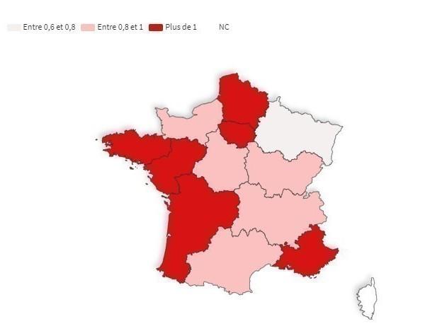 Coronavirus : le Grand Est devient la région où le virus circule le moins, le R0 augmente en France