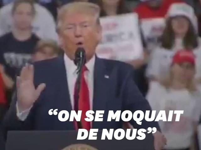 """Trump assure que l'Amérique est mieux """"respectée"""" grâce à lui. Et pourtant..."""
