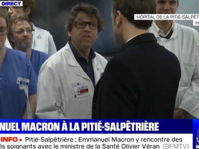 Emmanuel Macron visite la Pitié Salpétrière pour rassurer