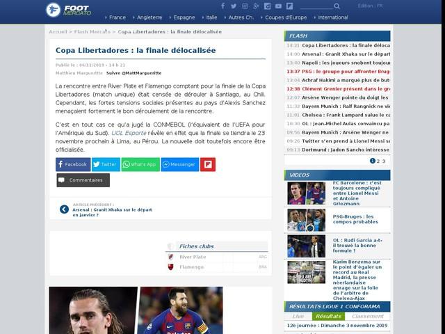 Copa Libertadores : la finale délocalisée